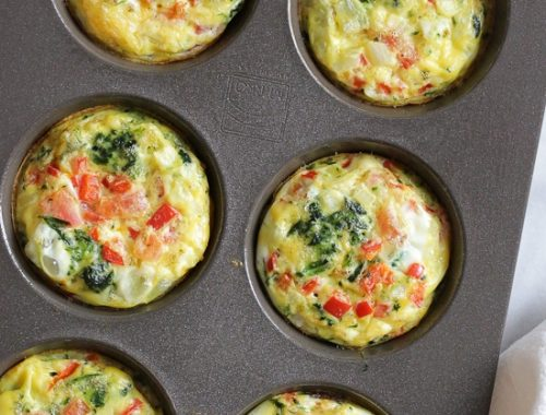 image of baked omelette muffin